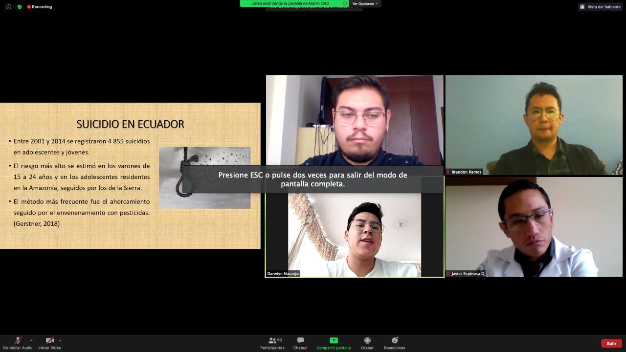 LA UNIDAD EDUCATIVA INDOAMÉRICA TRATÓ EL TEMA DE LOS SUICIDIOS EN TUNGURAHUA CON EXPERTOS Y RECOMENDACIONES