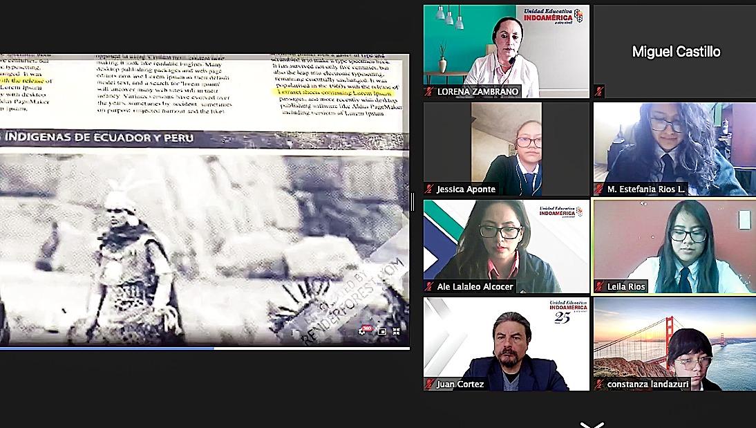 Unidad Educativa Indoamérica celebró el Inti Raymi Virtual