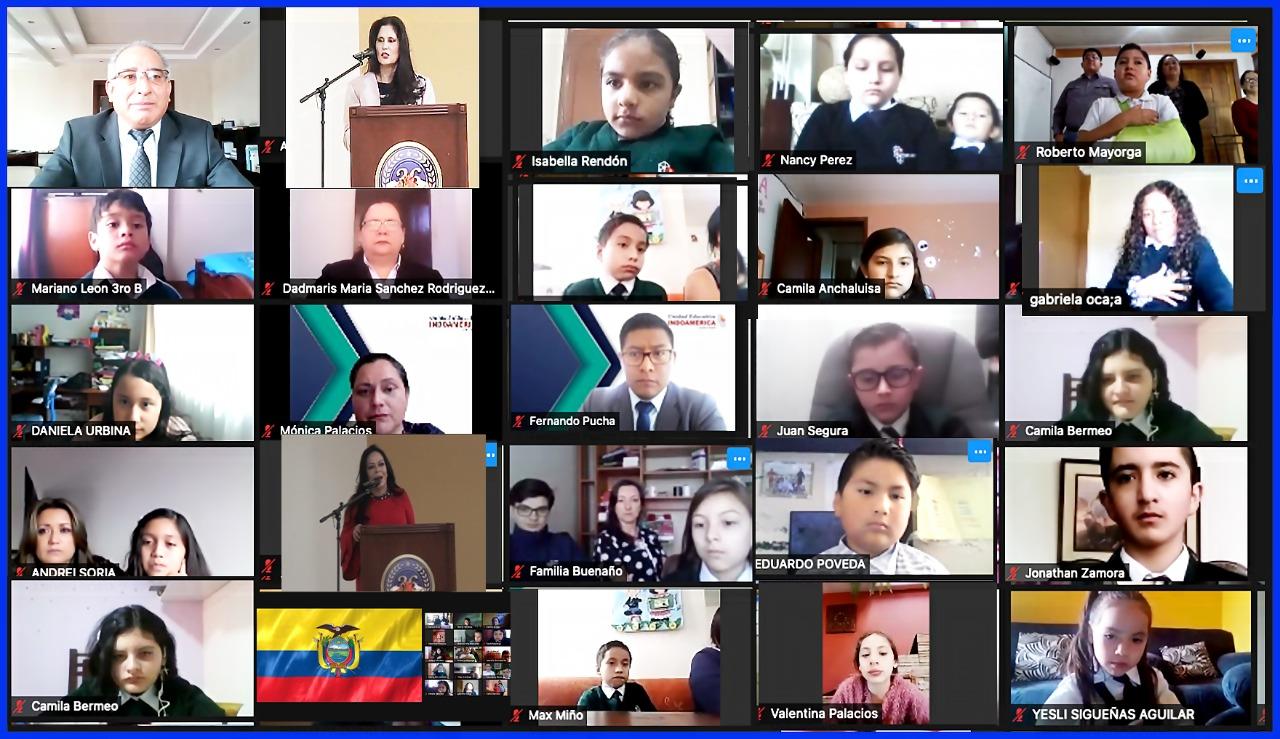 La Unidad Educativa Indoamérica inauguró el Año Lectivo 2021-2022
