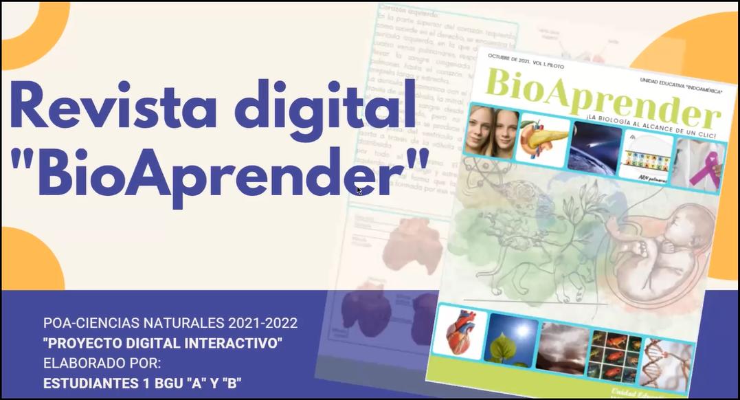 """Estudiantes de la Unidad Educativa Indoamérica presentan su revista digital """"Bioaprender"""""""