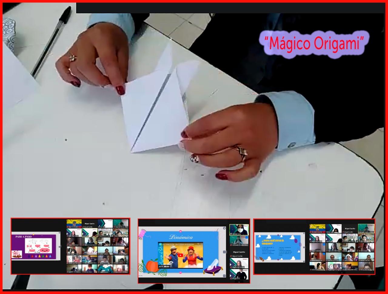 Niños De Educación General Básica Elemental participaron en una Actividad de Origami